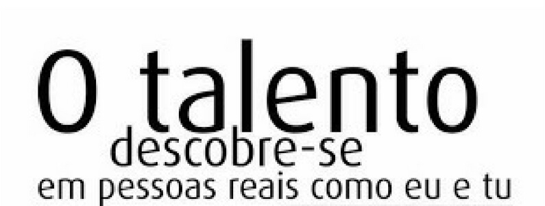 À Descoberta do Talento!