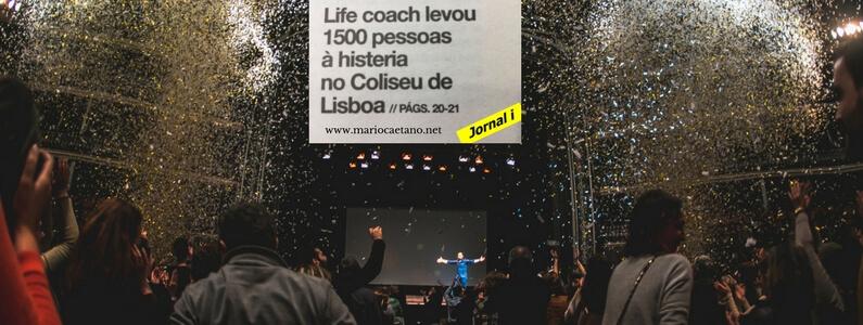 Life coach levou 1500 pessoas à histeria no Coliseu de Lisboa